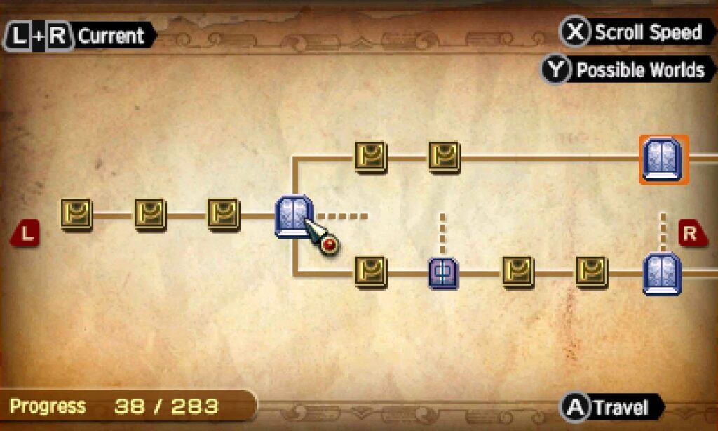 screenshot Node system in radiant historia: perfect chronology